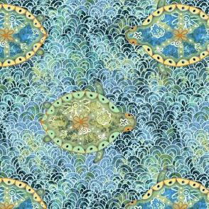 turtle love - ocean blue