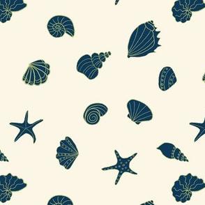 sea shells - ivory