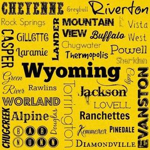 Cities of Wyoming, yellow