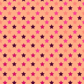 Rosy Pink Polka Stars by Cheerful Madness!!