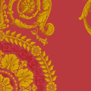Neoclassical Damask ~ Thenardier and Gold