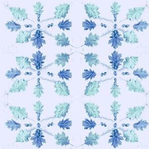Oak Leaves (Light Lavender)