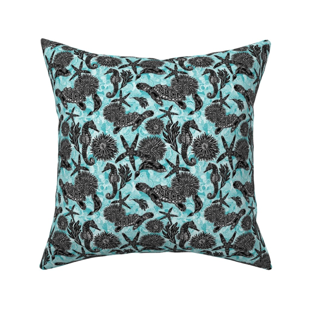 Catalan Throw Pillow featuring Sea Beauty (Small Scale) by christinemay