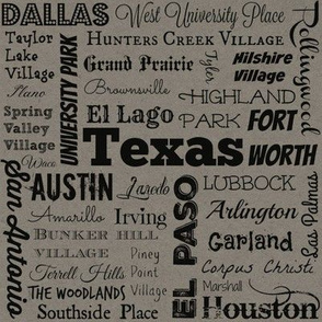 Cities of Texas, taupe