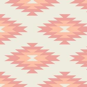 Navajo - Cream, Coral, & Peach