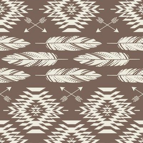 Native Roots - Brown & Cream