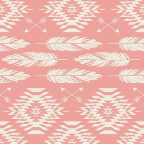 Native Roots - Coral & Cream