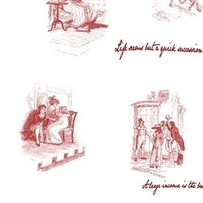 Mansfield Park Toile Red