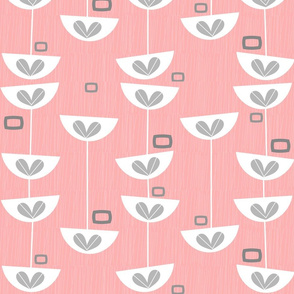 Mid-Century Pink Floral