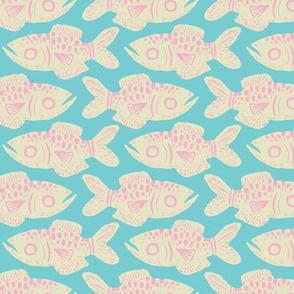 Cotton Candy Fish Print