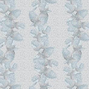 16-01b Acorn  Stripe    Antique Vintage  Leaf Leaves Squirrel Animal Oak Tree Blue pale gray grey silver _Miss Chiff Designs