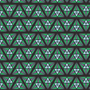 geometric green and purple