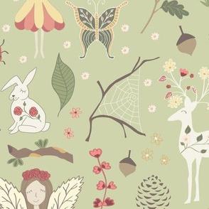Woodland Fairytales - Green