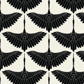 Swan Song // Black on Ecru
