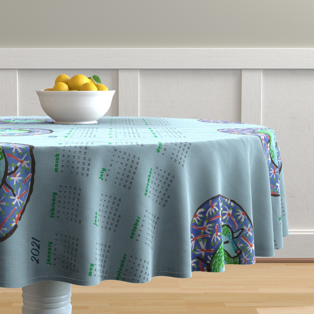 Malay Round Tablecloth featuring Quilt block #1: dream mole by kheckart