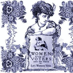VOTES FOR WOMEN BLUE