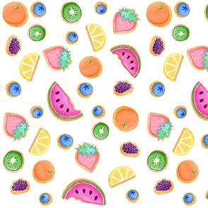 Fruit Cookies - White