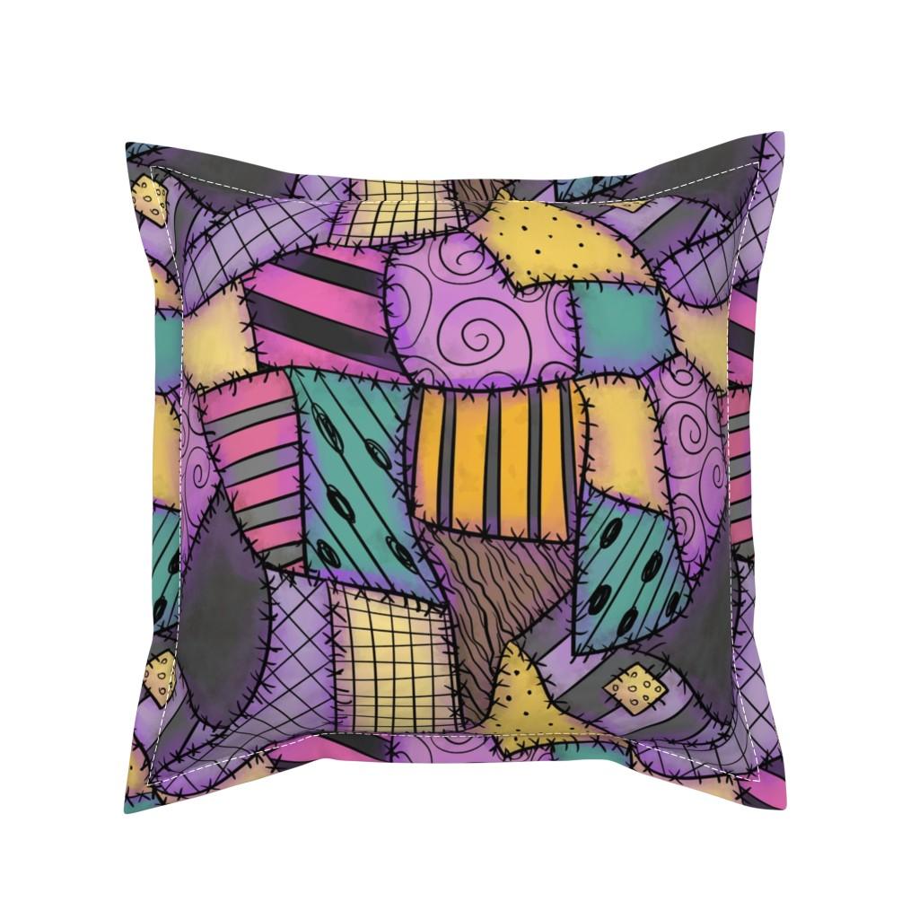 Serama Throw Pillow featuring Ragdoll Scraps - Small by elladorine