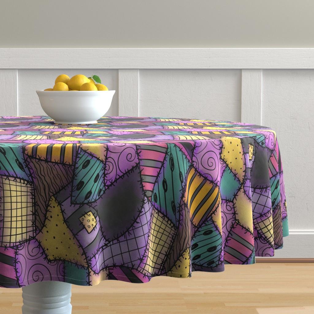 Malay Round Tablecloth featuring Ragdoll Scraps - Small by elladorine