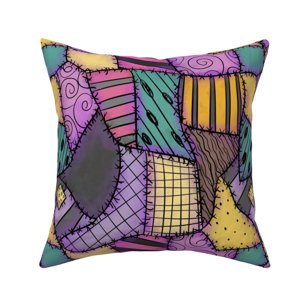 Catalan Throw Pillow featuring Ragdoll Scraps - Small by elladorine