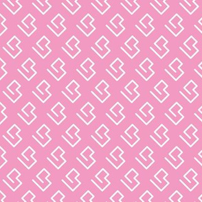 Geometric abstract maze scandinavian shape pink
