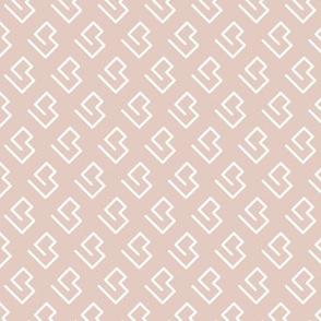Geometric abstract maze scandinavian shape beige