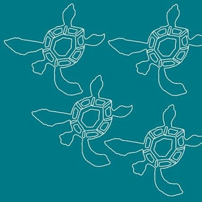 DARK-GREEN-BLUE-baby-sea-turtles-outline