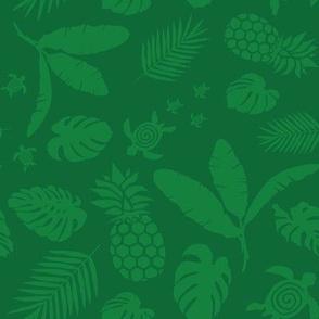 Tiki toons green background lg