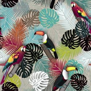 Tropical Birds (Color 2 - Bold)