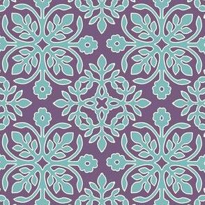 EGGPLANT_2_papercuts_diagonal_AQUA_cream_outlines