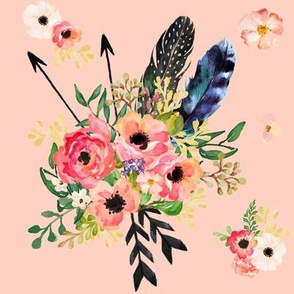 Boho Floral Dreams with Arrows