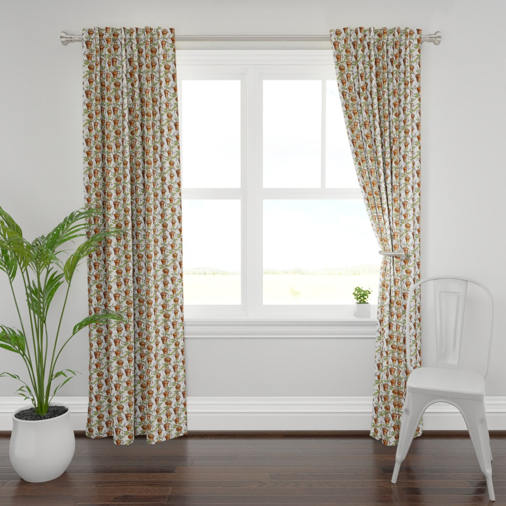 Plymouth Curtain Panel featuring Baby Mandrake Plants   by versodile