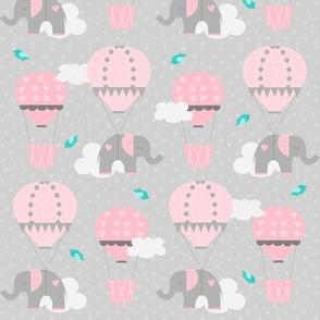Hot Air Balloon Tiny Elephants