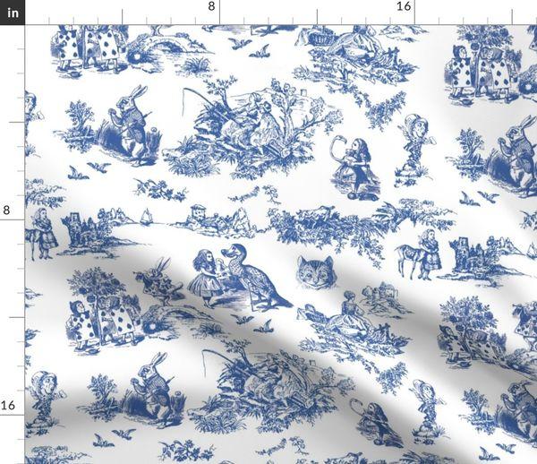 BLUE TOILE DE JOUY 100/% COTTON FABRIC