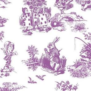 alice lilac toile de jouy large