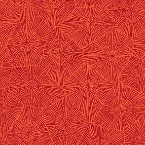 extra-large petoskey stone pattern in red