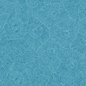 extra-large petoskey stone pattern in blue on aqua