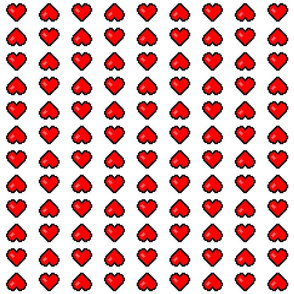 8-Bit Heart ~Stripes ~  Libertine and Royal Scandal on White