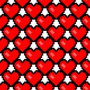 8-Bit Heart ~ Feel The Love ~ Libertine and Royal Scandal on White