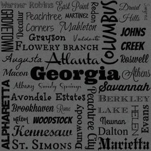 Cities of Georgia, dark grey