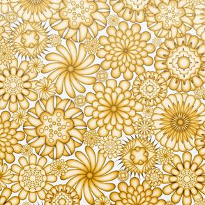 Ceramic Flowers Gradient Wallpaper (Solar Power)