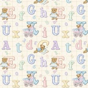 Teddy Tots Alphabet - Cream