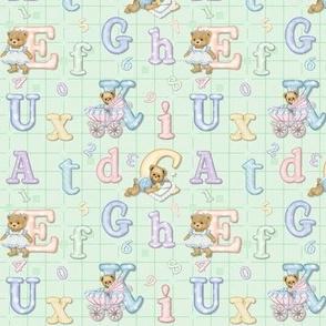 Teddy Tots Alphabet - Mint Green