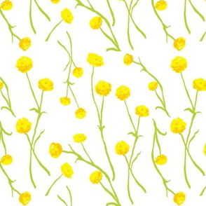 Summery Flowers in Yellows and Green