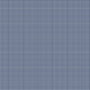 Gingham Small Navy Blue And White