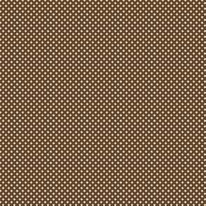 Polka Dots White On Sepia 1:6