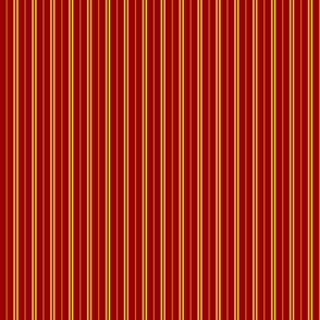 Tie Stripes Golden Yellow On Cherry Red 1:3
