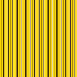 Tie Stripes Black On Golden Yellow 1:3