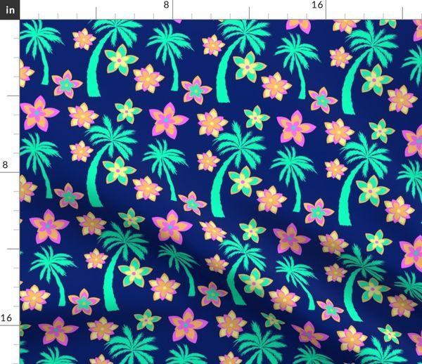 Palm Trees And Flowers Hawaiian Shirt Spoonflower