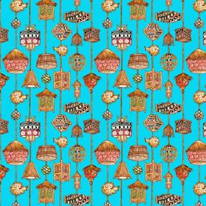 polynesian  tiki_lamp_fabric_turquois__blue_